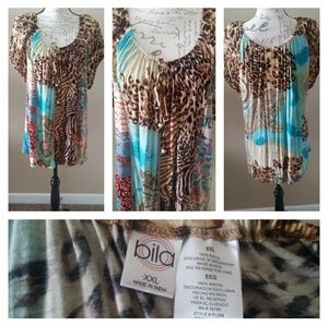 Bila multicolor plus size embellished blouse, NOWT